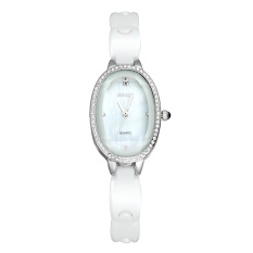 Zuigeili Wei Qin WEIQIN New High-grade Ceramic Watches Fashion Diamond Scale Three-dimensional Female Watches - Intl