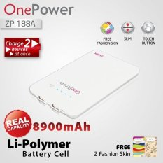 Zyrex OnePower Power Bank ZP188A - 8900 mAh - Putih