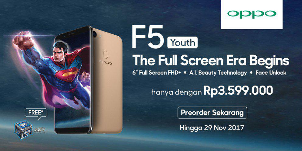 Oppo F5 Youth Launch - Jual Oppo F5 Youth Launch Online Terlengkap & Harga Murah Indonesia