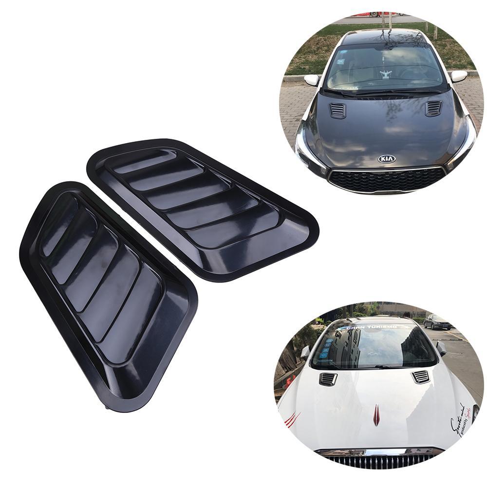 2 Pcs Mobil Dekoratif Asupan Aliran Udara Scoop Bonnet Turbo Vent Cover Hood  Fender Universal Hitam 41a6cb0ae8