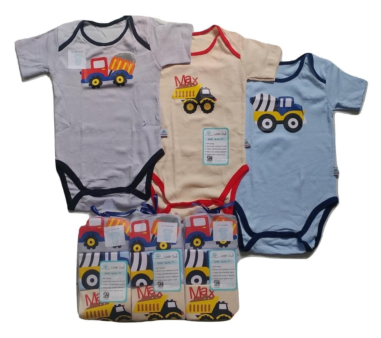Pakaian Bayi 6 Bulan S D 3 Tahun Baju Jumper Kodok 2 Pcs Karakter Baby Zebra Body Suits Laki