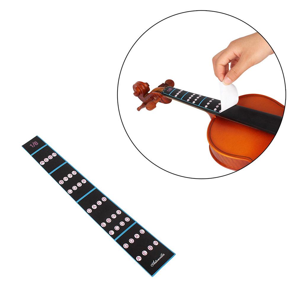 ... 1/8 biola memainkan jari panduan tuts piano stiker Label intonasi tabel Fretboard penanda untuk ...