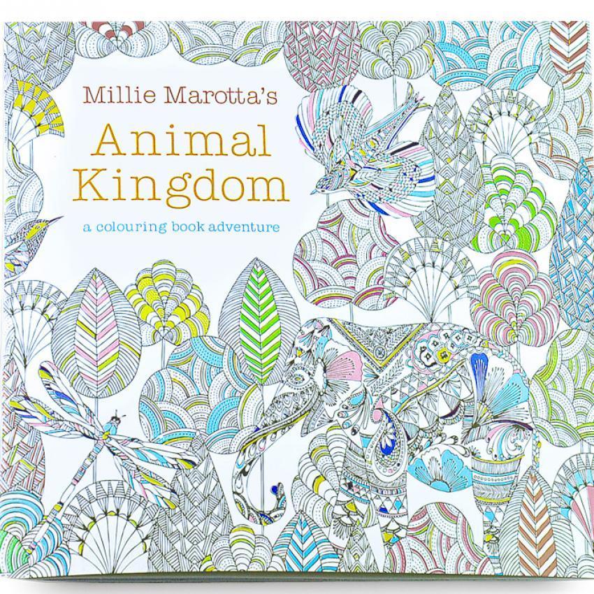 1pcs Animal Kingdom 2016 New Secret Garden An Inky Treasure Huntand Coloring Book For Children