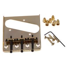 3 Jembatan Sadel untuk Fender Telecaster Tele TL Style Electric Guitar Gold