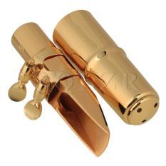 9.5 Cm Panjang #6 E-flat Alto Saxophone Mouthpiece Kuningan Emas-Intl