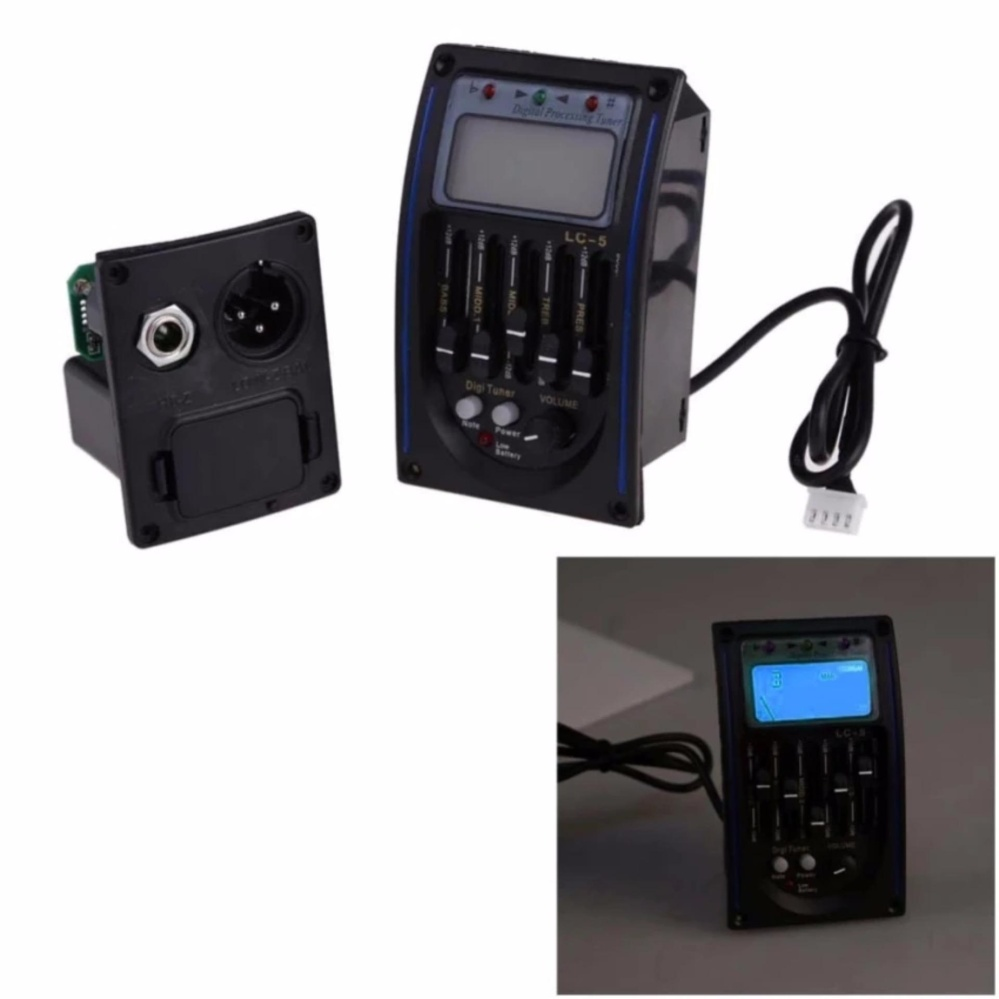 ... Acoustic 5-Band EQ Equalizer Guitar Preamp Piezo Pickup LCD Tuner New - intl ...