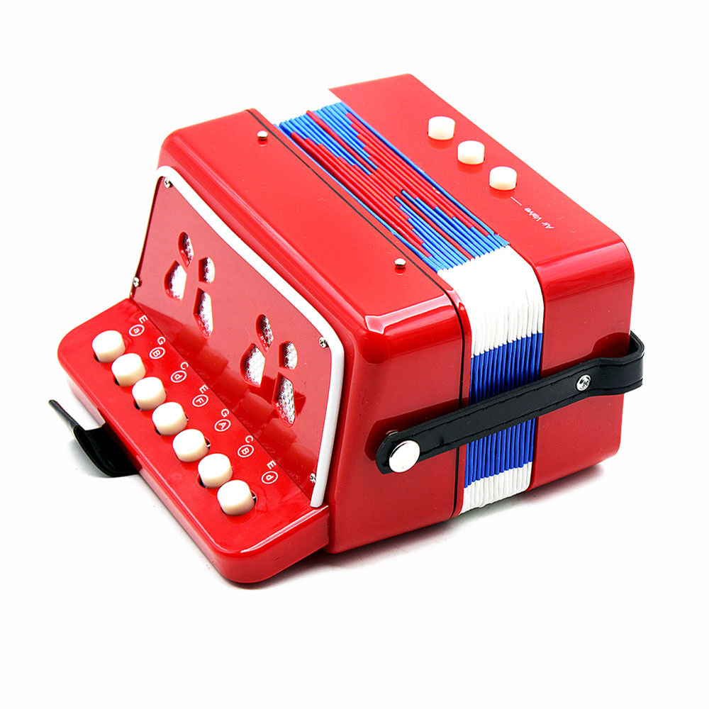 ... Anak 7 kunci 2 Bas Mini lipat kecil pendidikan instrumen musik irama Band Mainan ...