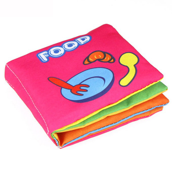 Baby Soft Squeaky Cloth Book (Food)