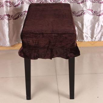 Bangku piano kursi bangku yang dihiasi dengan sampul Pleuche Macrame 75 cm x 35 cm untuk piano kursi ganda meja Universal - 5