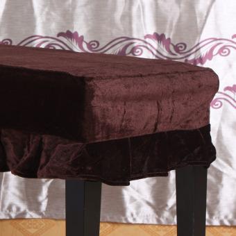 Bangku piano kursi bangku yang dihiasi dengan sampul Pleuche Macrame 75 cm x 35 cm untuk piano kursi ganda meja Universal - 3