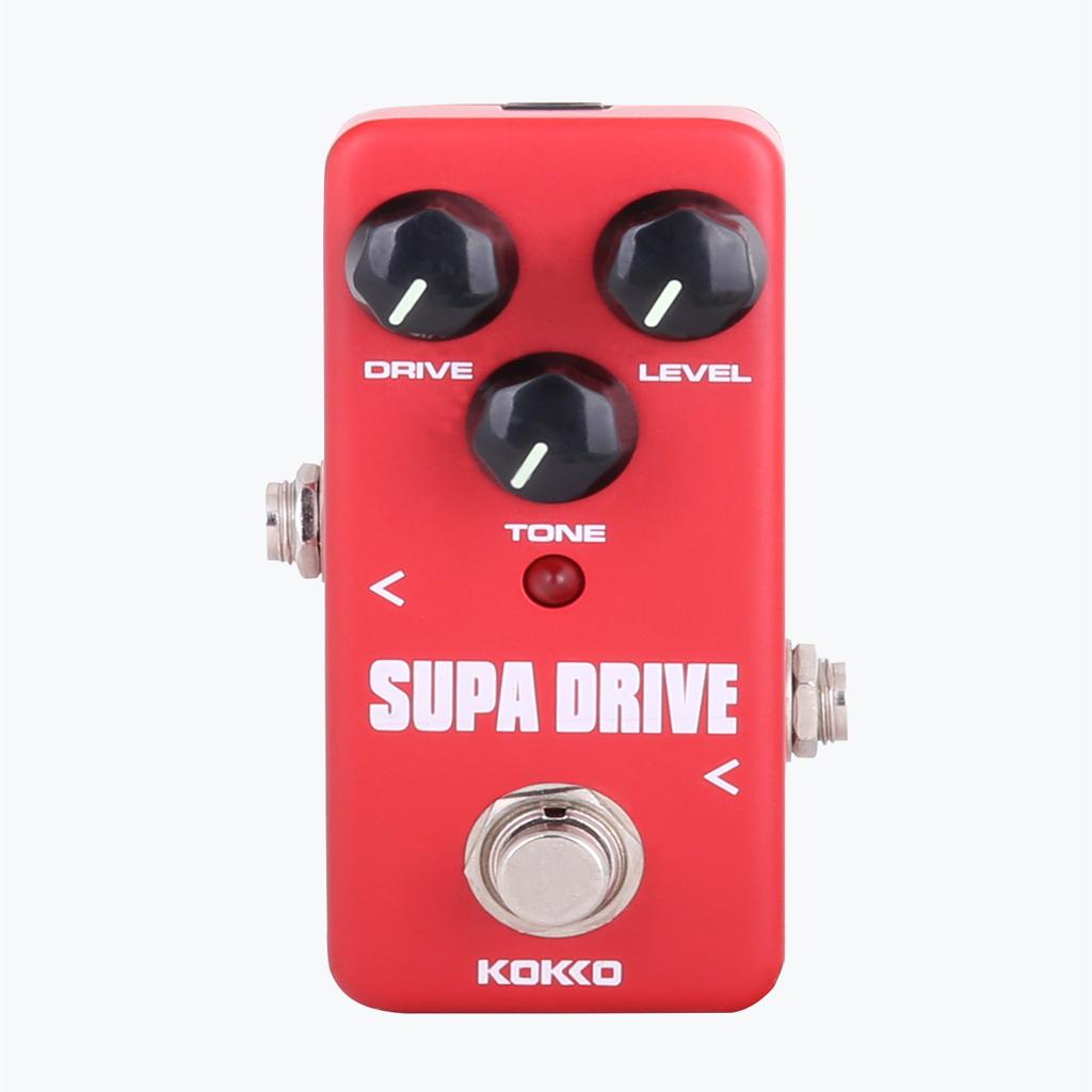 ... BolehDeals efek pedal Mini Supa berkendara dengan benar memotonguntuk gitar elektrik Merah ...