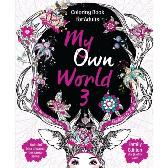 Book My Own World 3: Coloring Book for Adults Family Edition