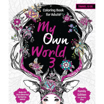 Book Paket My Own World Coloring For Adults Travel Size 1