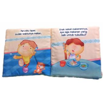 Buku Kainku Bantal Softbook Bayi Baby Terima Kasih Ya Allah Washable Multi colour (4730960)