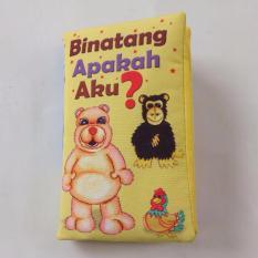 Buku Kainku Buku Bantal Kain Softbook Bayi Baby Binatang ApakahAku? Washable