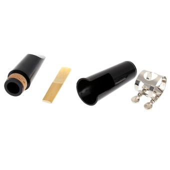 Clarinet Clarionet Mouthpiece Plastic with Cap Metal Buckle Reed -intl