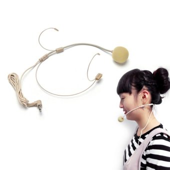 Dual Ear Hook Headset Head Microphone for Shure Wireless 4pin MiniPlug - intl