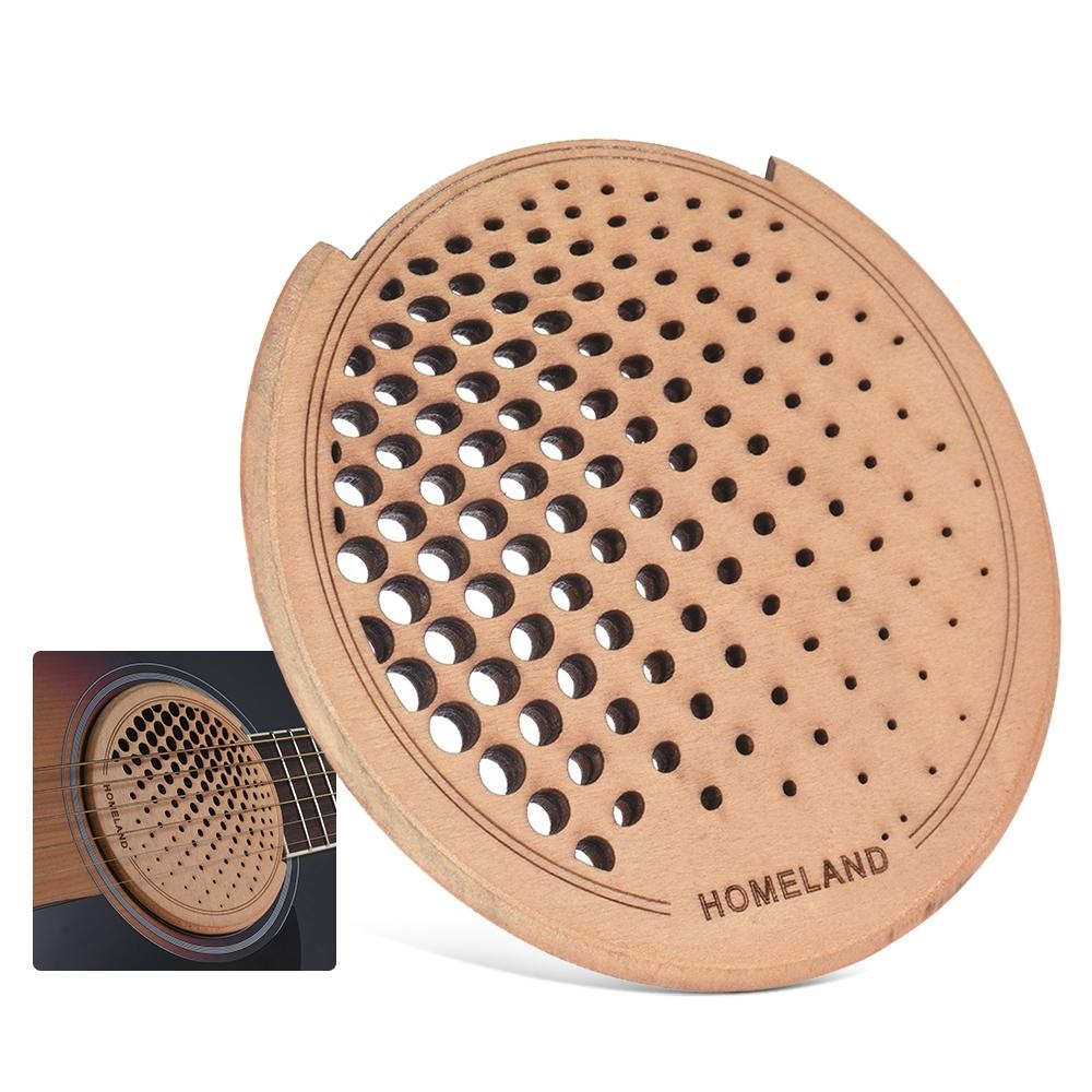 ... Inch Acoustic Source · Guitar Wooden Soundhole Sound Hole Cover Block Feedback Buffer Maple Wood for 40