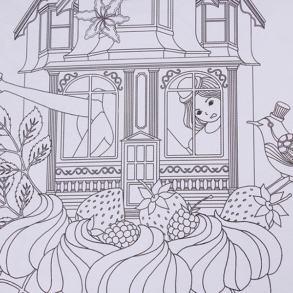 HengSong Secret Garden An Inky Treasure Hunt And Coloring BookFantasy Dream 24 Pages Chinese