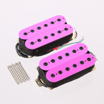 Hexbucker Guitar Humbucker Pickup Set Bridge and Neck Purple - intl