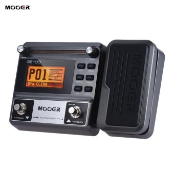 Harga MOOER GE100 Guitar Multi-effects Processor Effect Pedal with Loop Recording(180 Seconds) Tuning Tap Tempo Rhythm Setting Scale & Chord Lesson Functions - intl