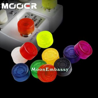 Harga 5 PCS MoonEmbassy Candy Color Rubber Electric Guitar Pedal Foot Nail Cap Foot Switch Knob Shine On Stage Accessories - intl