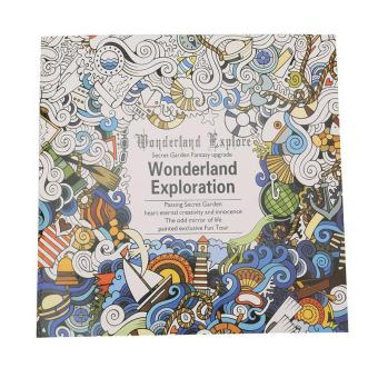 Harga LALANG Secret Garden Wonderland Exploration Painting Coloring Book English Edition 24 Pages