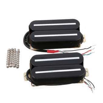 Guitar Humbucker Pickup Set Bridge and Neck Ceramic Magnet Black H011 - intl