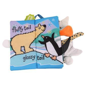 LALANG kartun hewan ekor bayi buku kain buku pendidikan kesadaran awal pengembangan mainan salju ekor - International - 3