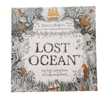 LALANG Secret Garden Lost Ocean Painting Coloring Book EnglishEdition 24 Pages