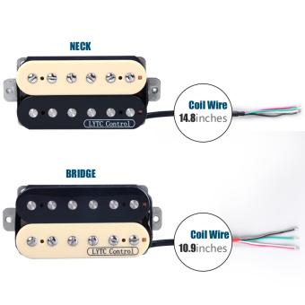 Lytc Electric Guitar Neck Bridge Pickup Humbucker Double Coil IvoryHigh Output - intl