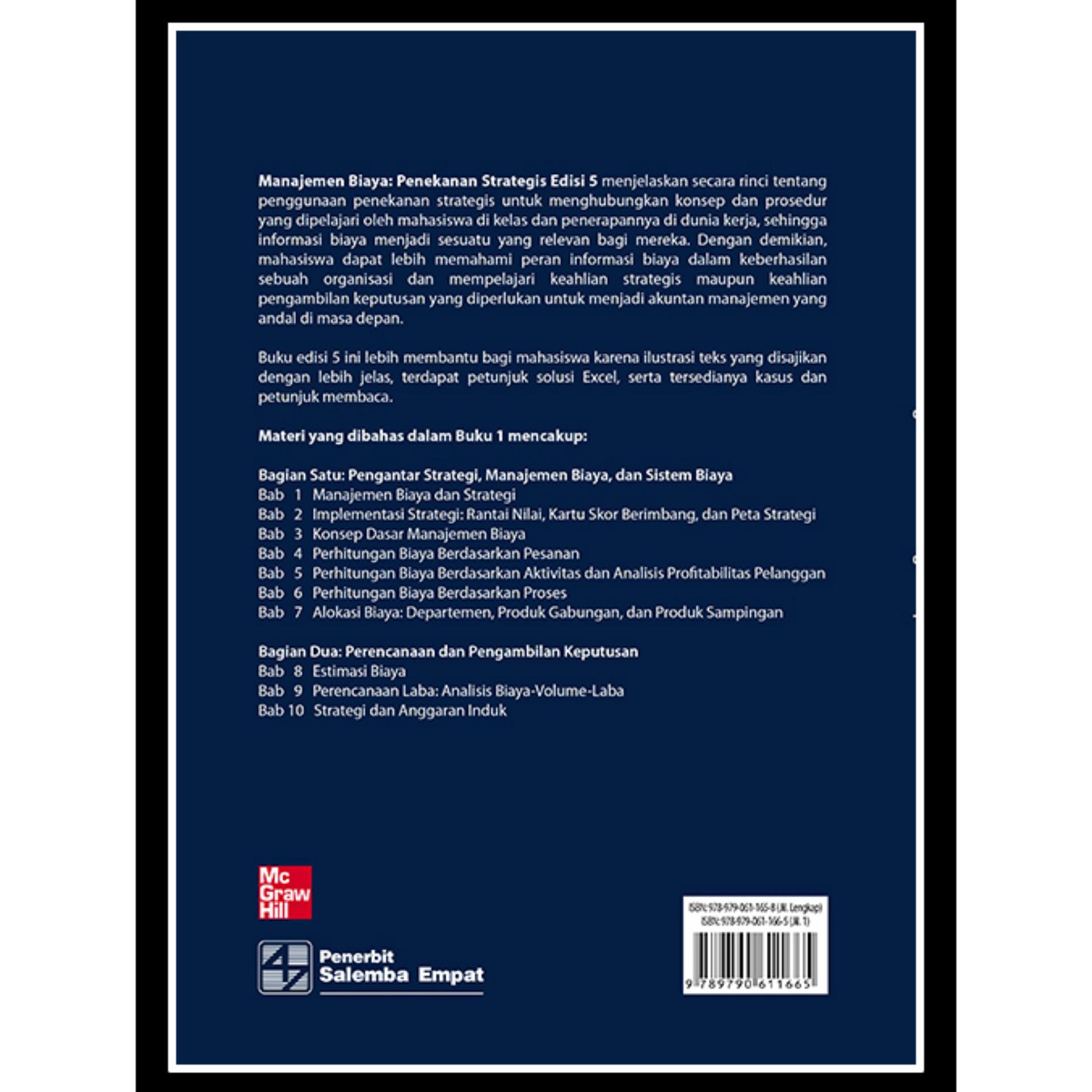 MANAJEMEN BIAYA : Penekanan Strategis 1 ed.
