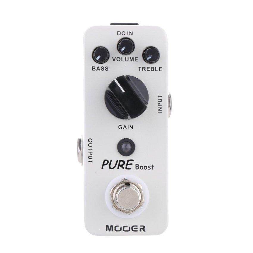 Mooer murni meningkatkan mikro Mini meningkatkan efek pedal untuk gitar elektrik benar memotong .