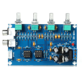 NE5532 stereo pra-amplifier Preamplifier papan nada audio 4 Channel penguat papan