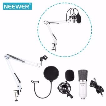 Harga Neewer NW-700 Microphone Kit,Professional Broadcasting StudioRecording Condenser Microphone Mic Kit with Shock Mount AdjustableSuspension Scissor Arm Stand Mounting Clamp Pop Filter Outdoorfree- intl
