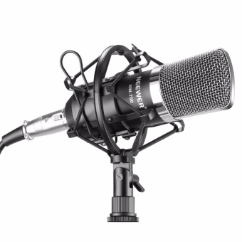 Harga Neewer NW-700 Professional Studio Broadcasting & RecordingCondenser Microphone Set Including: (1)NW-700 Condenser Microphone+ (1)Metal Microphone Shock Mount + (1)Ball-type Anti-wind Foam Cap+ (1)Microphone Audio Cable (Black) - intl