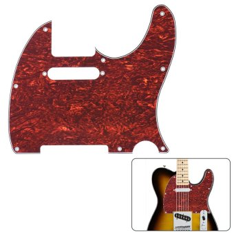 Pickguard Pick Guard 4Ply for Fender Telecaster Standard Modern Style Electric Guitar Tortoise Shell Red - intl