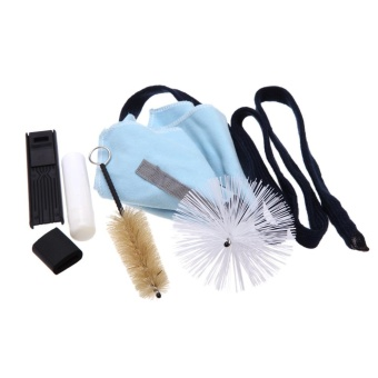 Saxophone Sax Cleaning Tool Cork Grease Brush Cloth Thumb Rest Cushion Reed Case Cleaning Kit - intl