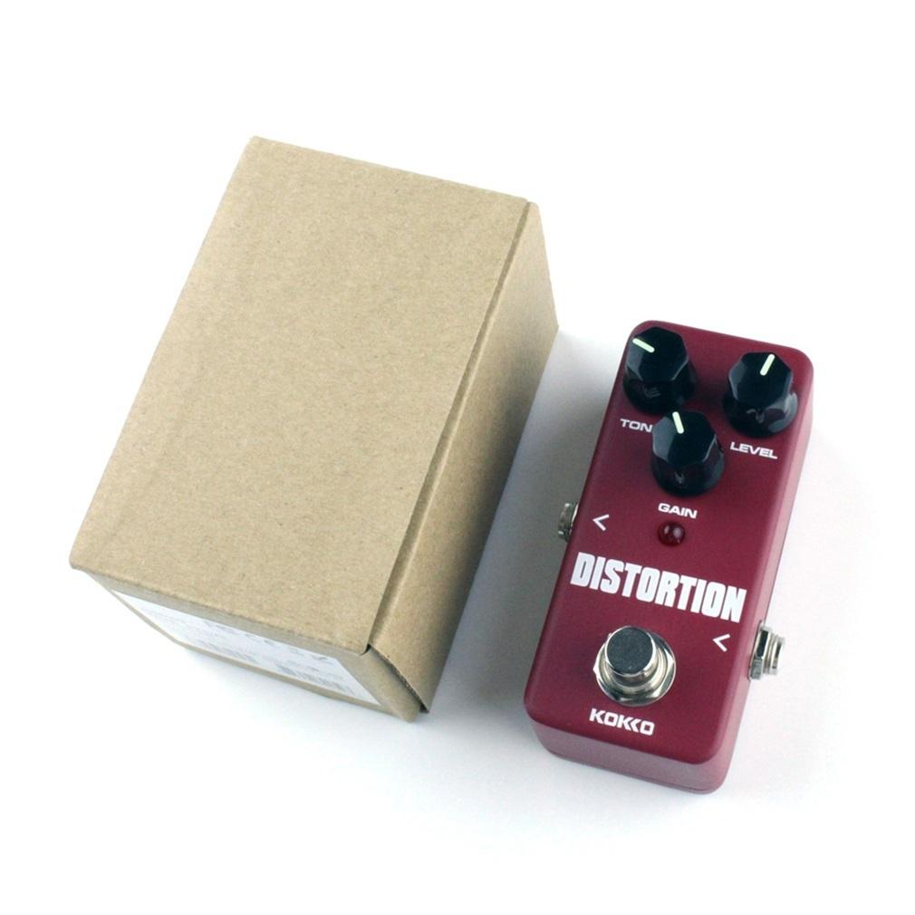 Selamat FDS2 Mini pedal distorsi efek gitar Komponen dan Aksesoris merah anggur ...