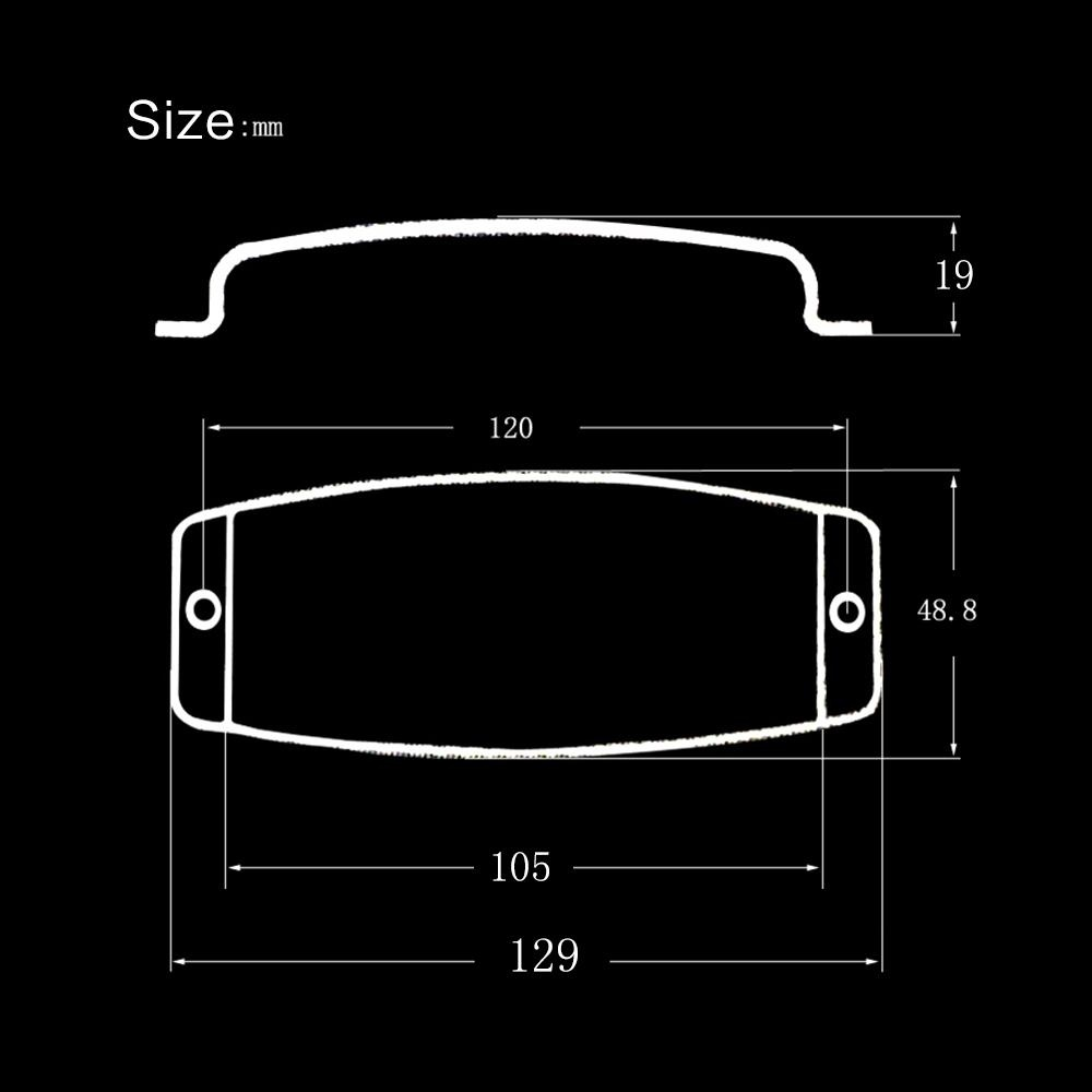 ... Steel Pickup Cover Protector for 4-string Jazz Bass Electric Bass Guitar Part Replacement Black ...