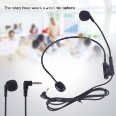 Wired Head Mounted Headworn Headset Microphone Mic Flexible Lightweight 3.5mm - intl