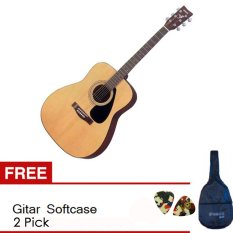 Yamaha Guitar F-310 Natural + Gratis Softcase + 2 Pick
