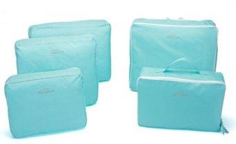 Bags in Bag Travel Set 5 in 1 - Biru