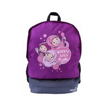Harga Afra Kids First Backpack - Happy With Hijab - Magenta