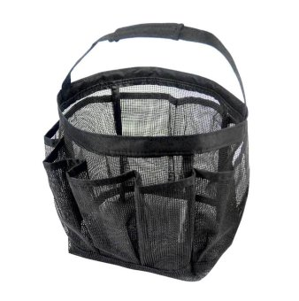 Harga niceEshop Portable Mesh Shower Accessories Tote Organizer (Black)