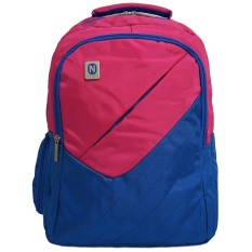 Navy Club Tas Ransel Laptop Kasual 3267 Tas Pria Tas Wanita - Tas Laptop Backpack Up to 15 inch Bonus Bag Cover - Pink