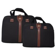 Navy Club Travel bag - Duffle bag - Tas Pakaian Tas Pria Tas Wanita (Tas jinjing Dan Tas Selempang) BJHD/14+18 Inch - Hitam