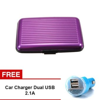 Harga Trend's Security Credit Card Walet - Ungu + Gratis Car Charger 2.1A
