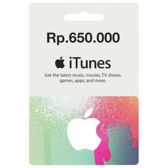 Apple iTunes Gift Card Region Indonesia Rp. 650.000 - 2