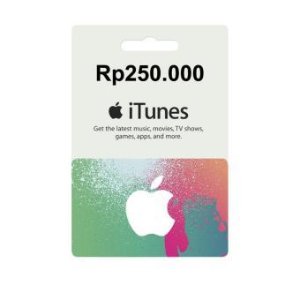 Apple iTunes Gift Card Rp250000 Region Indonesia Digital Code